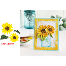 Vibrant Sunflower Summer Decoration Metal Cutting Dies Scrapbooking Album Paper DIY Cards Crafts Embossing Cut 2019