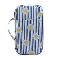 Bolsa de almacenamiento de agujas, herramienta para tejer en 3 colores, estampado Floral, clásico, portátil, accesorios de ganchillo, contenedor sin ganchos, 18x30cm