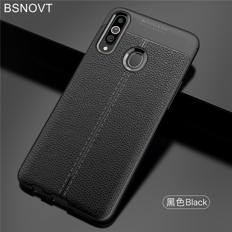 For Samsung Galaxy A20s Case Soft Silicone PU Leather Anti-knock Cover BSNOVT