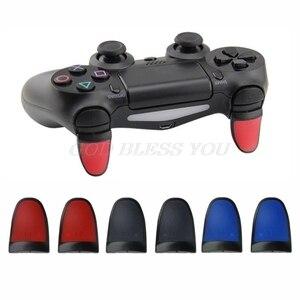 Image 2 - 1 زوج جديد مكافحة زلة L2 R2 الزناد تمديد أزرار عدة ل PS4 تحكم التناظرية تمديدات الإبهام قطرة الشحن