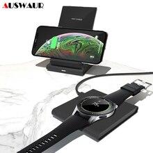 Manyetik QI kablosuz şarj cihazı iPhone XS 11 Samsung S10 artı izle dişli S3 S4 spor aktif tomurcukları 10W hızlı kablosuz şarj cihazı