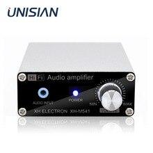 Unisina tpa3116d2 오디오 증폭기 보드 tpa3116 2.0 채널 정격 전력 60wx2 스테레오 디지털 전력 증폭기 알루미늄 합금 상자