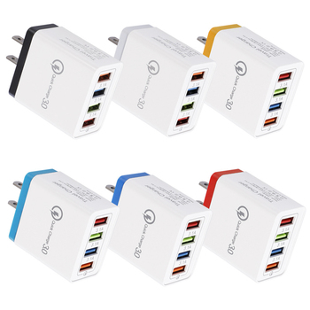 4-Port USB Charger 3.1A Multi-Port Fast Charger QC3.0 Travel Portable Mobile Phone Charger 1