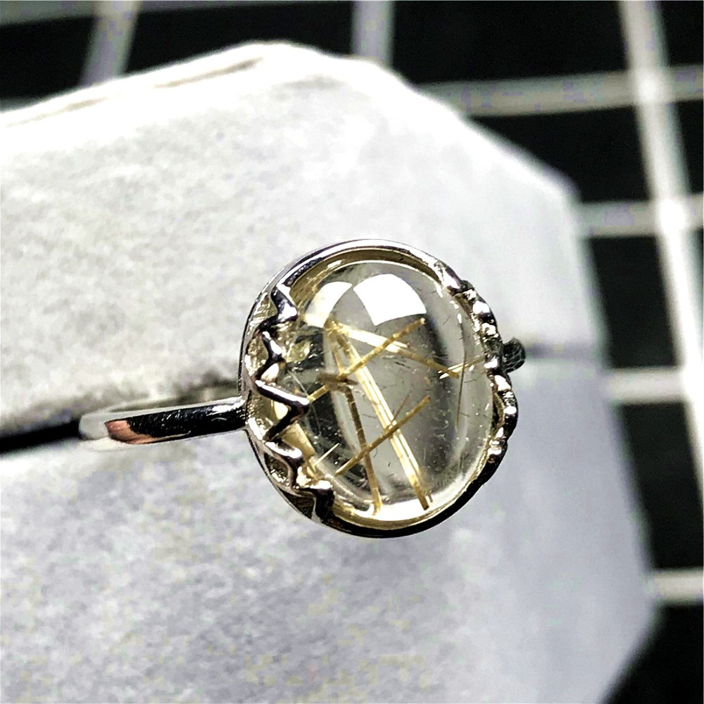 Gold Rutilated Ring (52)
