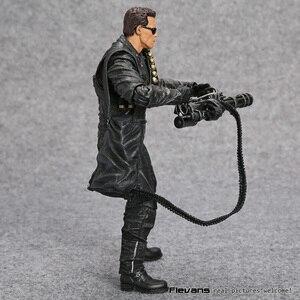 "Image 4 - NECA Terminator 2: dzień sądu T 800 Arnold Schwarzenegger pcv figurka Model kolekcjonerski Toy 7 ""18cm"