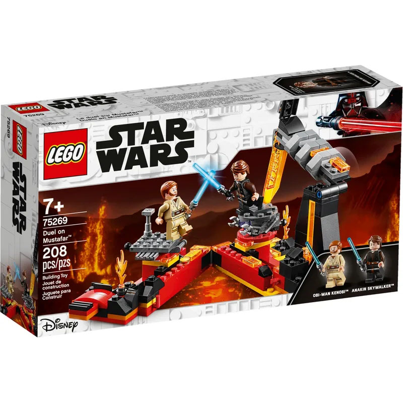 <font><b>LEGO</b></font> 75269 <font><b>Star</b></font> <font><b>Wars</b></font> Series Duel on Mustafar Building Block Includes 2 <font><b>Minifigures</b></font> Anakin and Obi-Wan Toy A Great Gift for Kids image