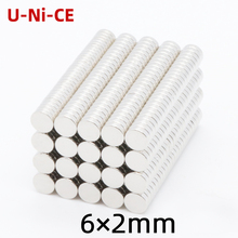 10/30/100 pieces of neodymium magnets 6×2mm Mini N35 round disk magnet super strong nickel rare earth 6*2mm
