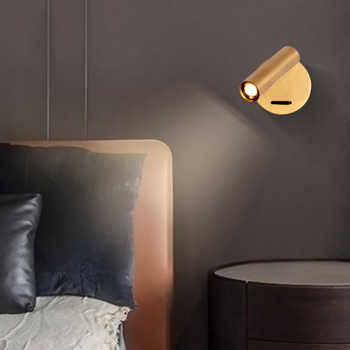 ZEROUNO wall Mounted Bedside Reading Lamp LED Wall Light indoor Hotel Guest Room bed room Headboard book read Light with switch - Category 🛒 Lights & Lighting