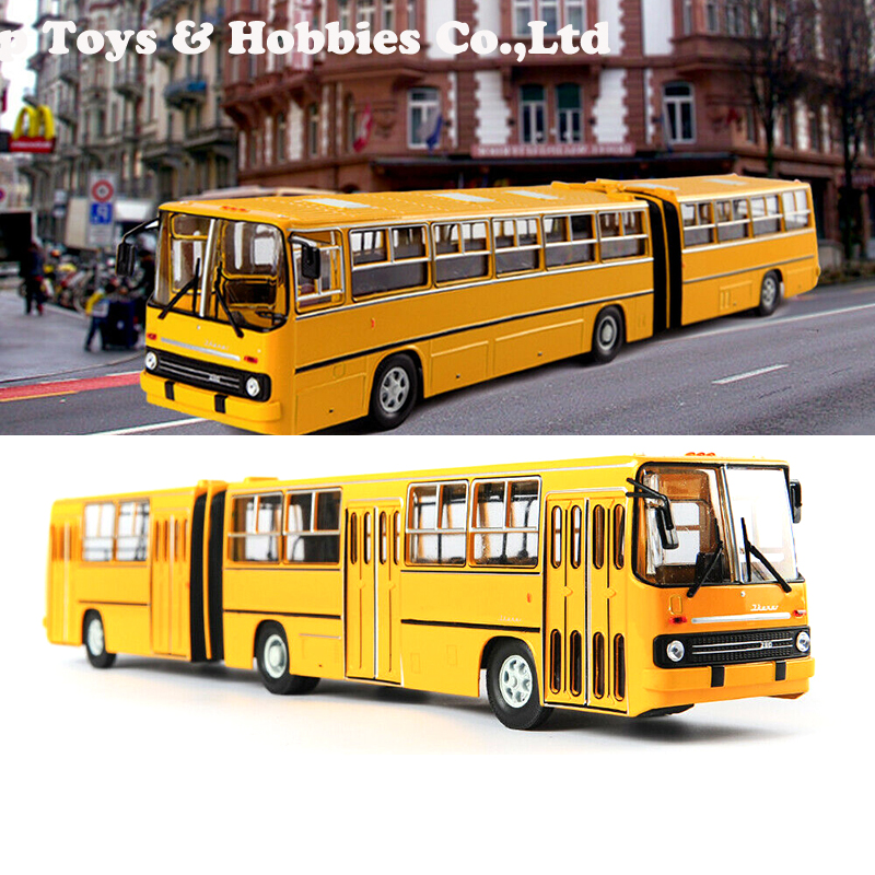 38cm  Kids Toys Collection Toys For Children IKarus-280 Bus Model 1/43 Diecast Alloy Soviet Russia Double-decker Bus Yellow