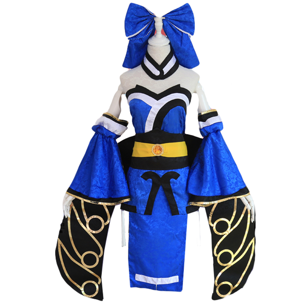 Brdwn FGO Fate Grand Order Girls Womens Fox Lancer Tamamo No Mae Cosplay Costume Kimono
