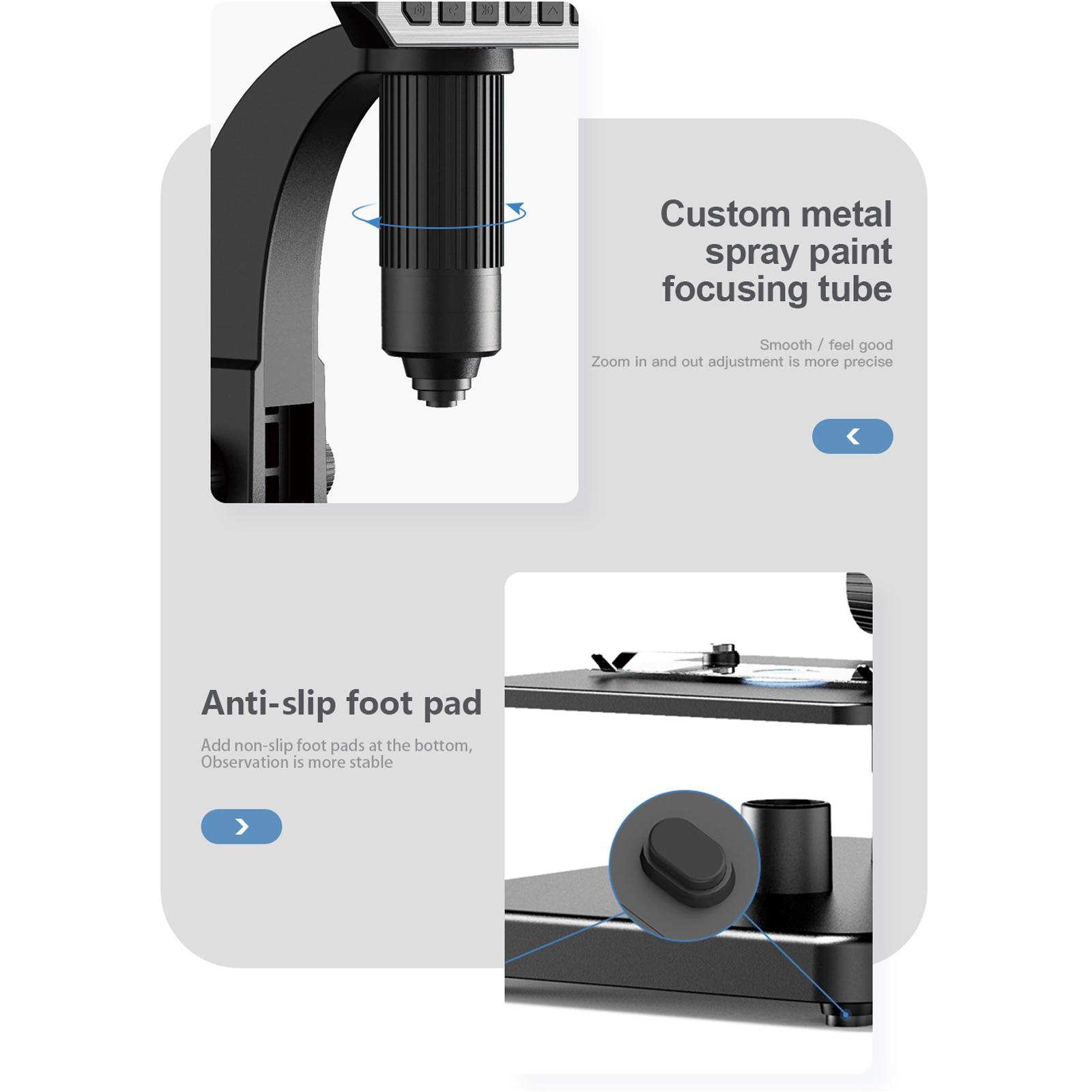 Tools : Inskam315 7 Inch IPS High Definition Screen Industrial Digital Microscope Camera 0-2000x Multipurpose Tool Dual LED Light Source