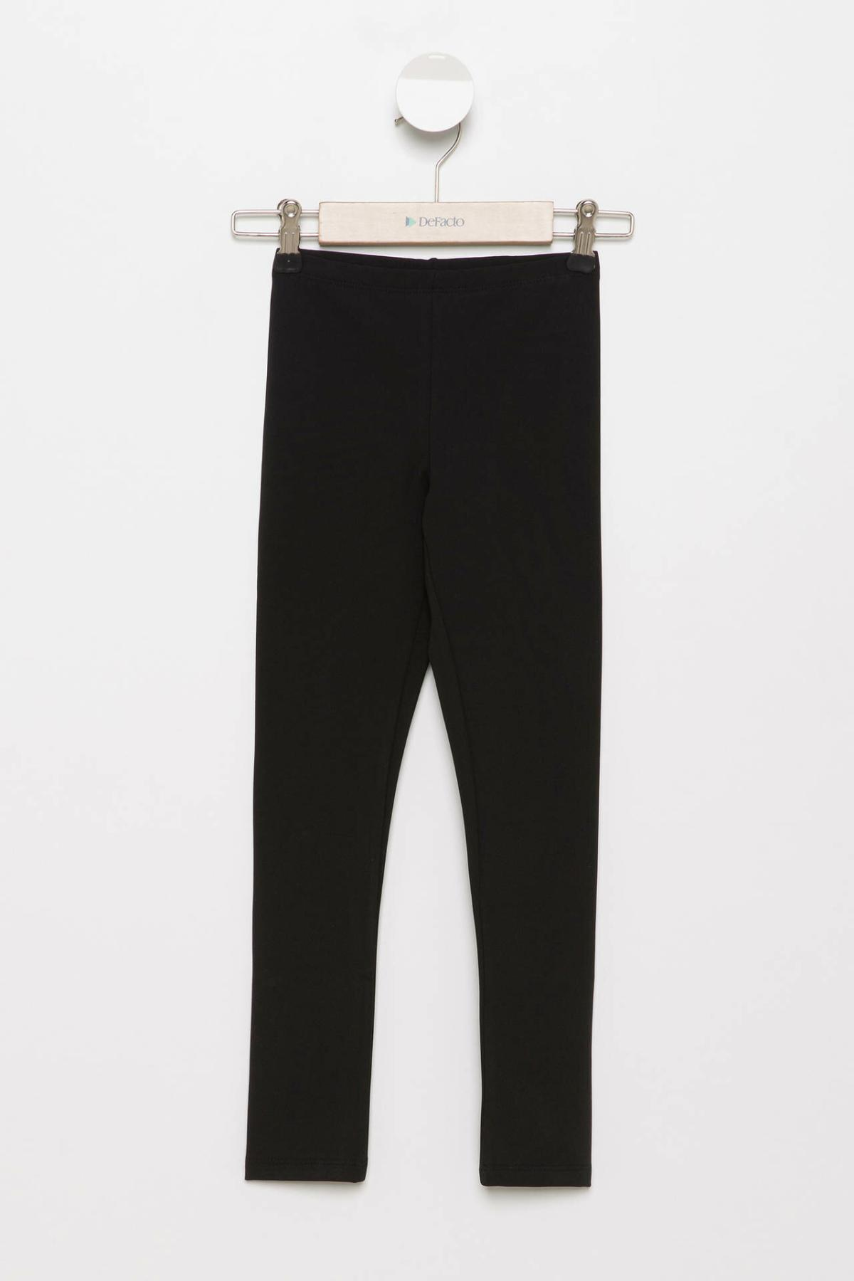 DeFacto Girl Autumn Black White Leggings Pants Girls Slim Fit Long Pants Girls Elastic Leggings-H6532A417AU