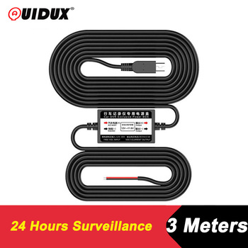 QUIDUX DC 5V 2.5A Buck Line for 24 Hours Parking Monitoring Car Camera Radar Detector DVR Camera Cable Length 3m accessories image
