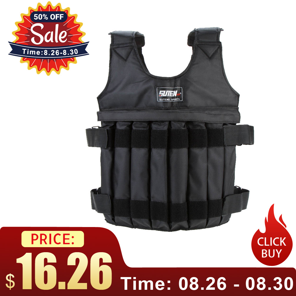 Jacket Weighted-Vest Fitness-Equipment Boxing Training-Workout Adjustable 20kg/50kg-Loading
