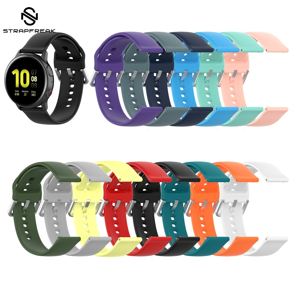 Silicone Sport Watch Band For Galaxy Watch Active 2 Smart Watch Strap For Samsung Galaxy 42mm Watch Strap Quick Release Bracelet