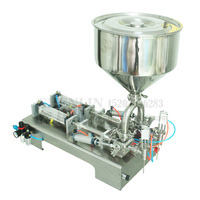 SHENLIN Rotary filling machine semi automatic pneumatic filler water shampoo juice oil lubricant piston filler 100ML pasta fill