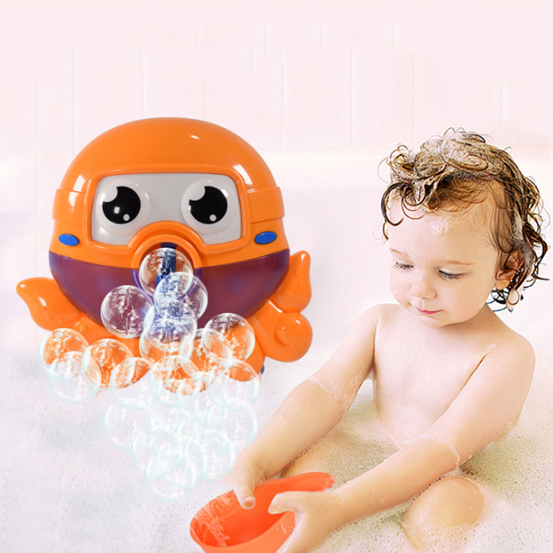 Baby Bath <font><b>Toys</b></font> <font><b>For</b></font> Kids Musical Bubble Maker Machine Octoputs Fun Summer <font><b>Water</b></font> Play In Bathroom <font><b>Toys</b></font> <font><b>for</b></font> <font><b>Children</b></font> Gifts image