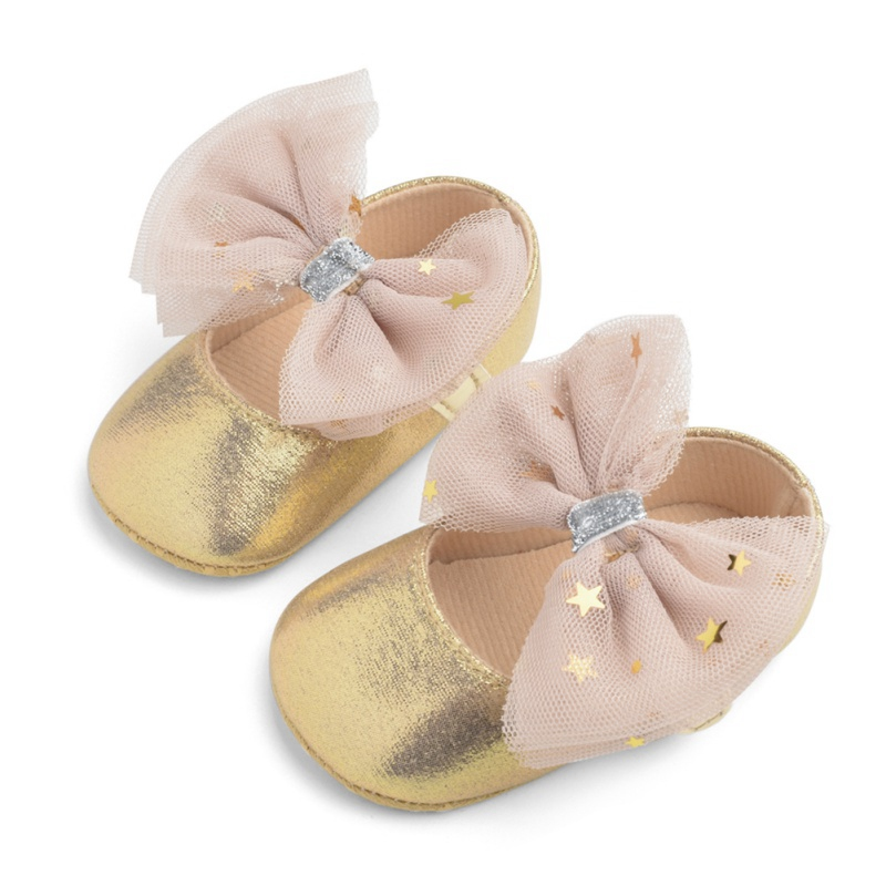 0-18M Baby Shoes Baby Girl Soft Shoes Soft Comfortable Bottom Non-slip Fashion Bow Shoes Crib Shoes 2019