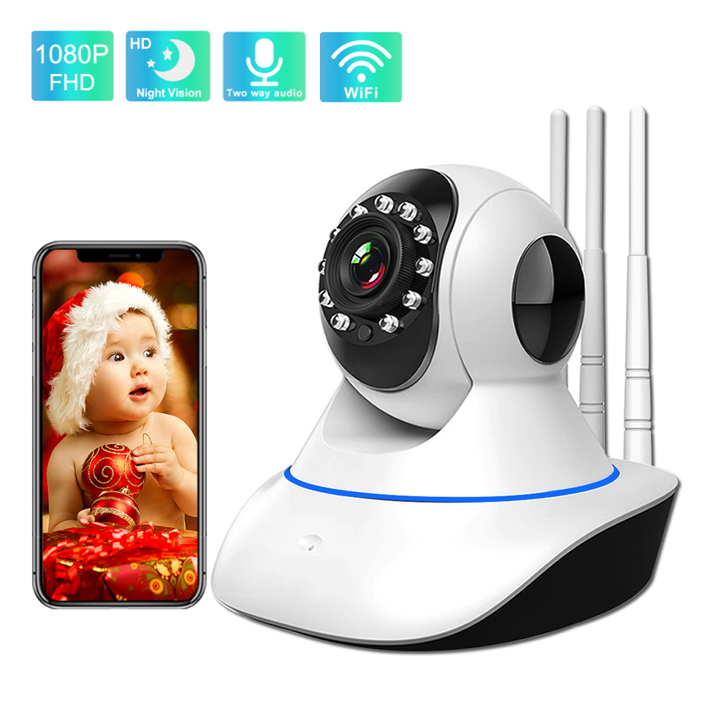 360 Camera 1080P Surveillance Camera with Wifi IR Night Vision Motion Detection Two Way Audio Home Security Smart Video Camera
