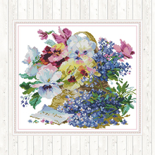 Oil Painting Flowers Counted Cross Stitch Print on Canvas DMC 14CT 11CT DIY Needlework Sets for Embroidery Kit Hand Home Decor red rose on the table painting counted 11ct 14ct cross stitch wholesale diy cross stitch kit embroidery needlework home decor