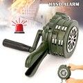 Hand Kurbel Sirene Horn 110dB Manuelle Betrieben Metall Alarm Air Raid Notfall Sicherheit AS99