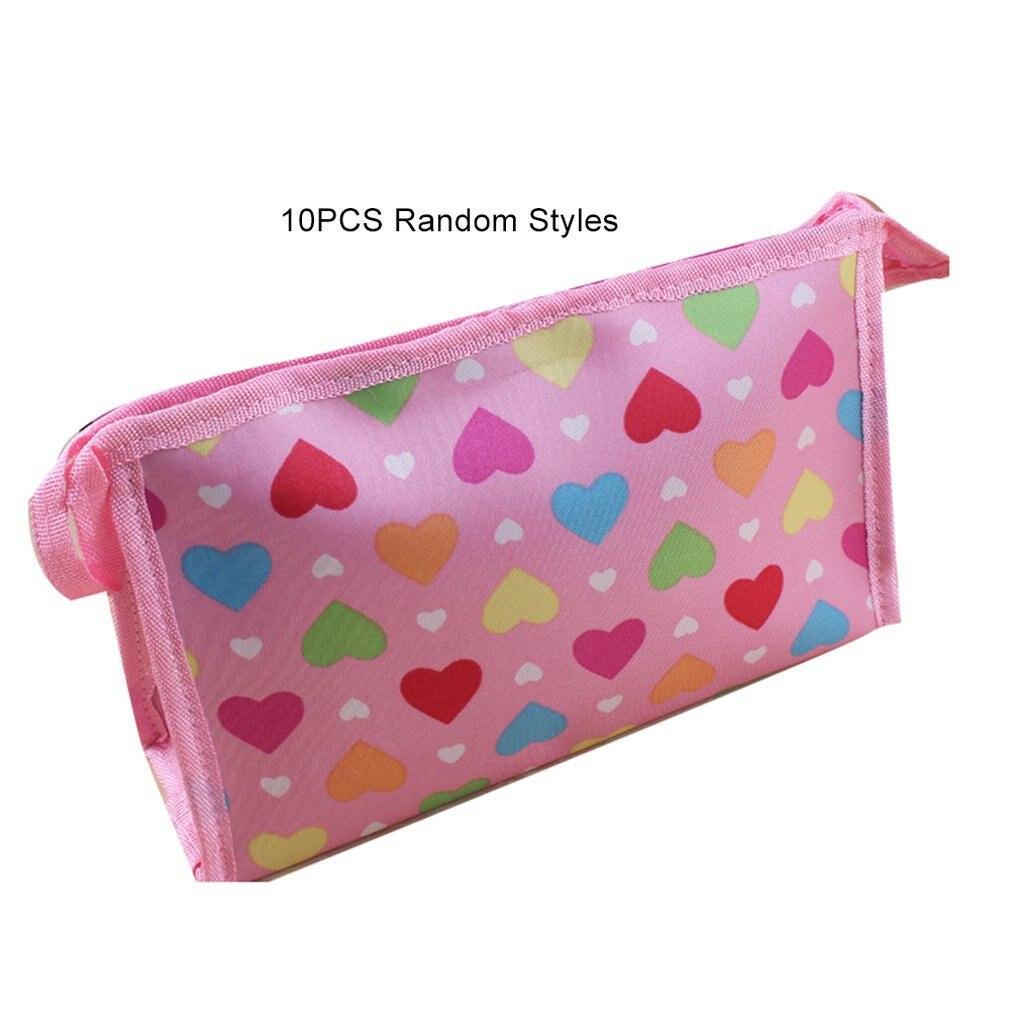 10 pçs/set feminino saco de cosméticos viagem compõem sacos moda senhoras maquiagem bolsa neceser higiene pessoal lavagem organizador caso inteiro venda