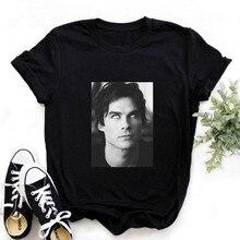 New The Vampire Diaries Tshirt Summer Tee Shirt Femme Girl Ulzzang Casual T Shirt Harajuku 90s Cool T-shirt Streetwear Drop ship