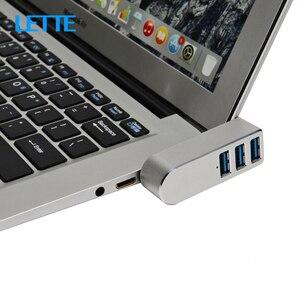 Mini HUB USB 3 ports USB 3.0, séparateur, en alliage d'aluminium, rotatif, HUB mince Portable pour ordinateur de bureau iMac accessoires d'ordinateur Portable, adaptateur OTG