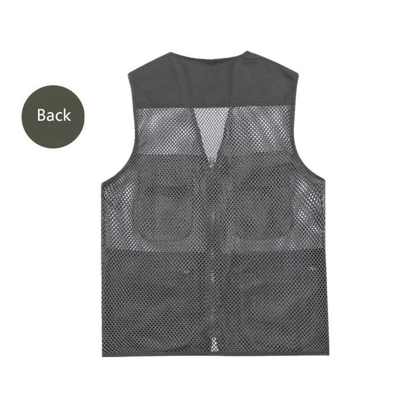 Summer Mens Sleeveless Cotton Leisure Vest Autumn Outdoor Zipper Vest Plus Size
