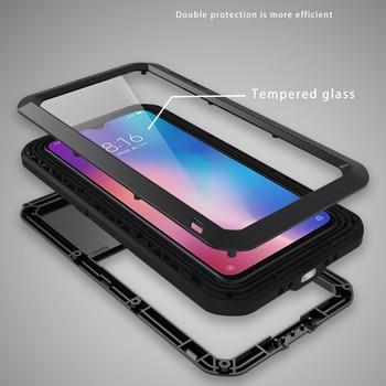 Funda metálica a prueba de golpes para Xiaomi mi 9 mi 9 teléfono 360 funda protectora de cuerpo completo al aire libre deporte armadura de choque funda en Xiaomi mi 9 mi 9