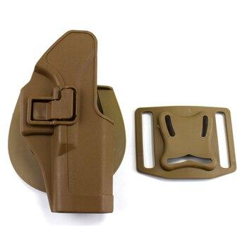 Glock tático 17 19 22 23 31 32 airsoft pistola cinto coldre glock pistola caça acessórios caso arma esquerda/mão direita