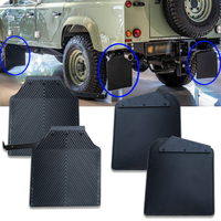For land rover defend 110 Mudguard Front Rear Wheel Black Plastic Mud Flaps Mud Guard Car Fender