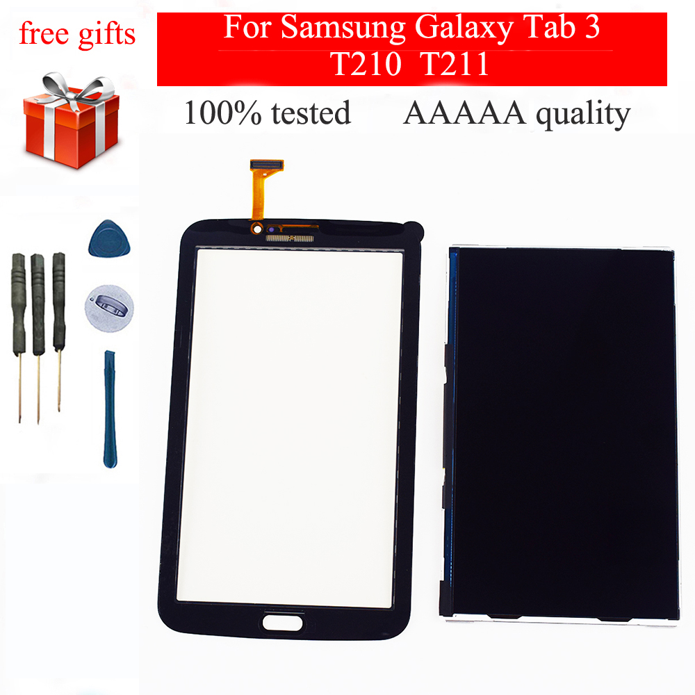 For <font><b>Samsung</b></font> Galaxy Tab 3 7.0 SM-T210 SM-<font><b>T211</b></font> T210 <font><b>T211</b></font> Touch Screen Digitizer Sensor Glass + <font><b>LCD</b></font> Display Panel Module Monitor image