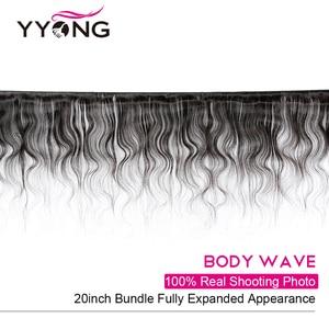 Image 2 - Yyong 4x4 i 5x5 zamknięcie z wiązkami brazylijski ciało fala z zamknięciem 4/5 sztuk dużo Remy wiązki ludzkich włosów z zamknięciem 10 30 cal