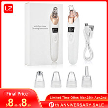 Blackhead Remover Vacuum Electric Blackhead Removal Tools Pore Cleaner Extractor Rechargeable Pore Vacuum with 5 Suction Probes