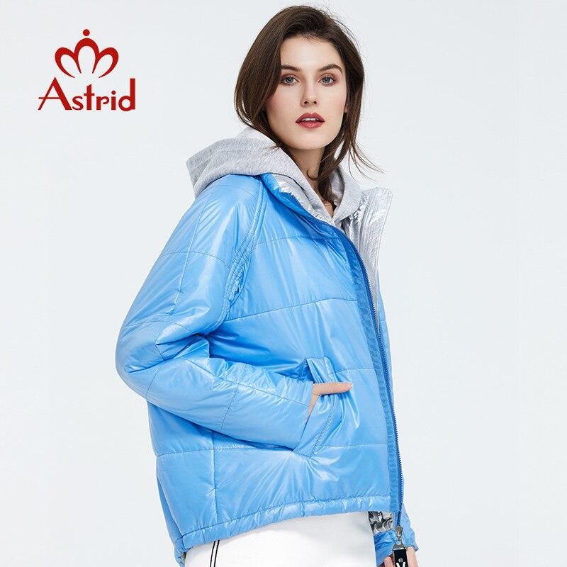 Astrid 2020 primavera mujer Parka marea marca abrigo cálido chaqueta delgada de algodón colores brillantes abrigo corto de pie Collar ZM-3053 - 2