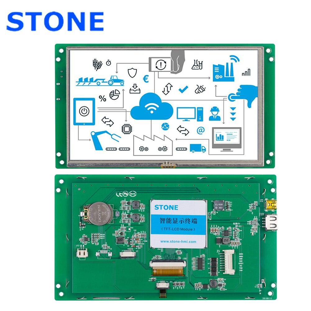 Monitor LCD táctil de 7 pulgadas con placa controladora para aplicación Industrial integrada