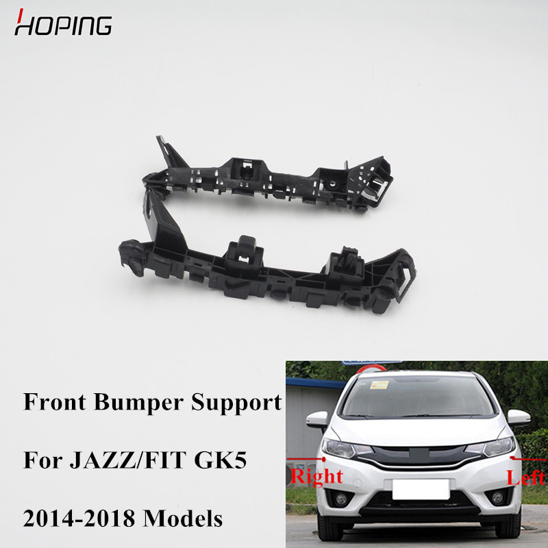 Hoping Front Bumper Support For <font><b>Honda</b></font> JAZZ <font><b>FIT</b></font> GK5 2014 <font><b>2015</b></font> <font><b>2016</b></font> 2017 2018 image