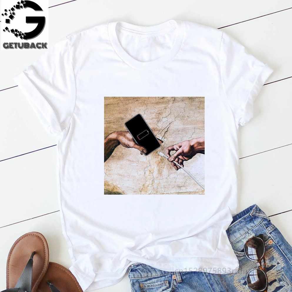 2020 t camisa feminina impressão carta camiseta casual branco preto rosa manga curta algodão topos verão marca roupas