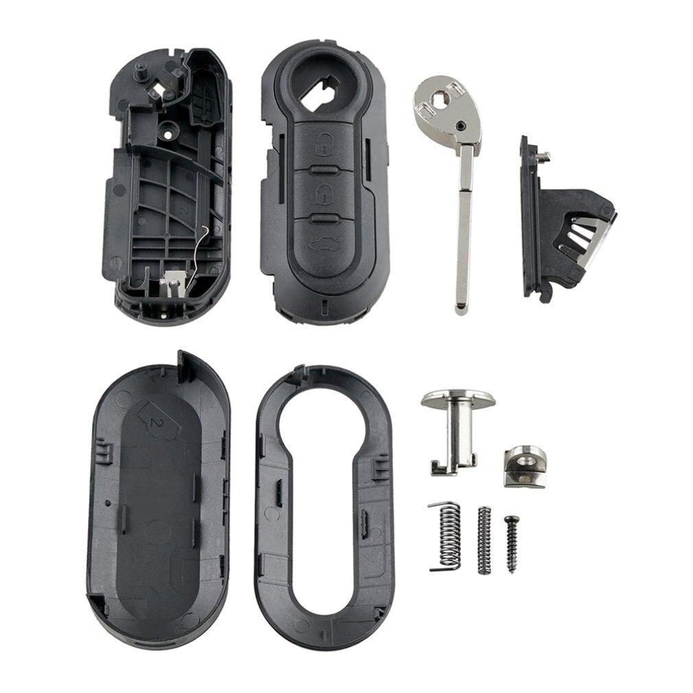 Подходит для FIAT GRANDE PUNTO 500 BRAVO DUCATO PANDA 3 кнопки Брелок чехол для пульта дистанционного управления 3 ключа чехол для ключа