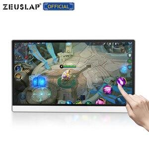 Image 3 - ZEUSLAP מגע מסך נייד צג 1920x1080 FHD IPS 15.6 אינץ תצוגת צג נטענת סוללה עם נרתיק עור