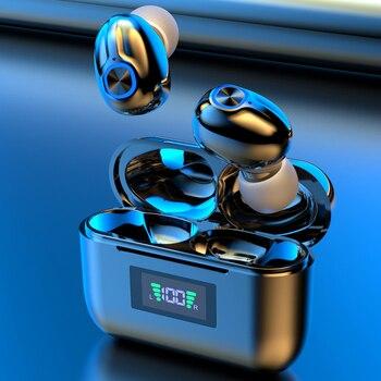 Bluetooth Wireless Headphones with Mic Sports Waterproof TWS Bluetooth Earphones key Control Wireless Headsets Earbuds Phone