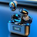 Беспроводные Bluetooth-наушники с микрофоном, спортивные водонепроницаемые TWS Bluetooth-наушники с управлением клавишами, беспроводные наушники-вк...