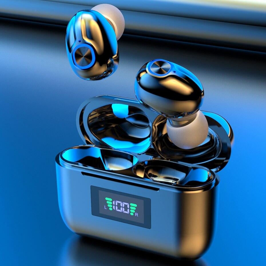 Беспроводные Bluetooth-наушники с микрофоном, спортивные водонепроницаемые TWS Bluetooth-наушники с управлением клавишами, беспроводные наушники-вкладыши для телефона