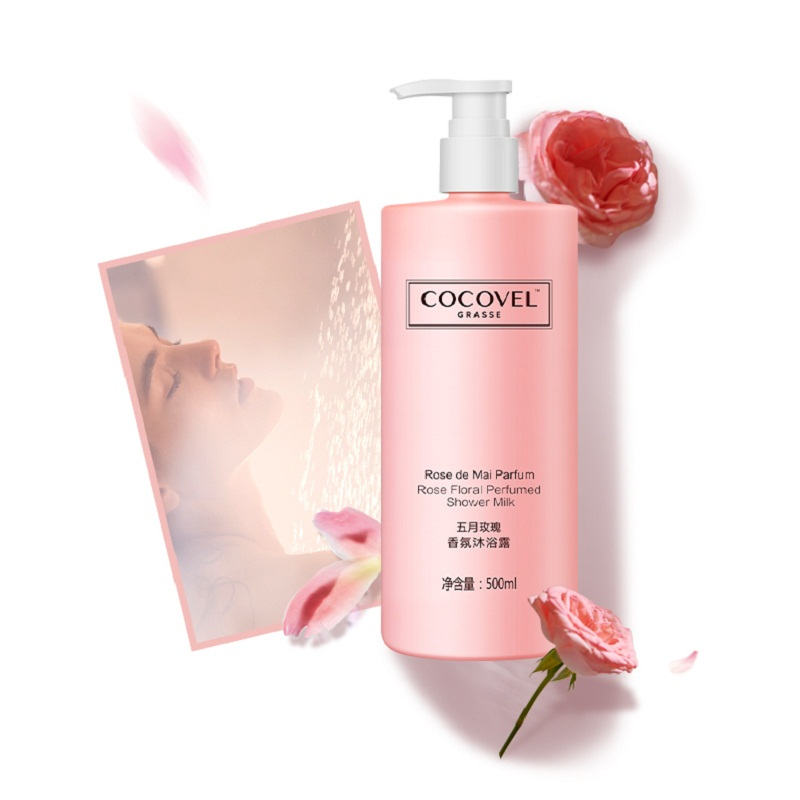 COCOVEL Perfume Shower Gel Genuine Long-lasting Fragrance Family Dress Body Shower Gel Moisturizing Hydrating 500ml