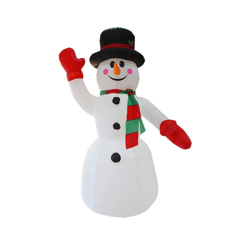 8FT Tall Snowman Inflatable Christmas Decoration With LED Lights And Fan For Outdoor Indoor Home Garden Yard vc.