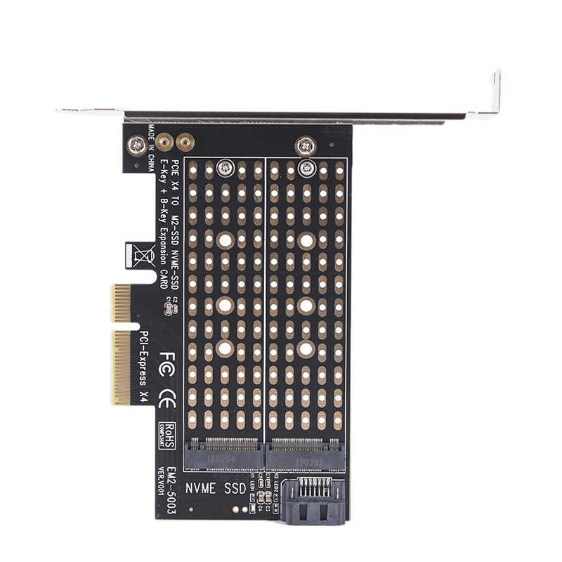 Podwójne zastosowanie PCIe X4 do NGFF M.2 NVME PCIe M klucz SATA B klucz 2230 do 2280 adapter ssd