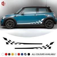 2 pçs que compete a treliça porta lateral do carro listra adesivo gráficos decalque do corpo do vinil para mini cooper s r56 2006 2013 um jcw acessórios|Adesivos para carro| |  -