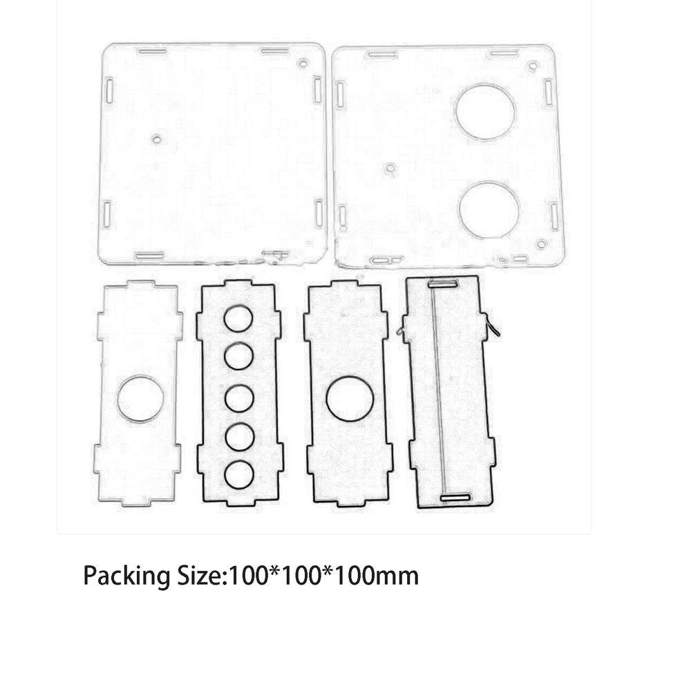 Acrylic Case For  6J1 Valve Preamp Tube PreAmplifier Board Headphone Buffer
