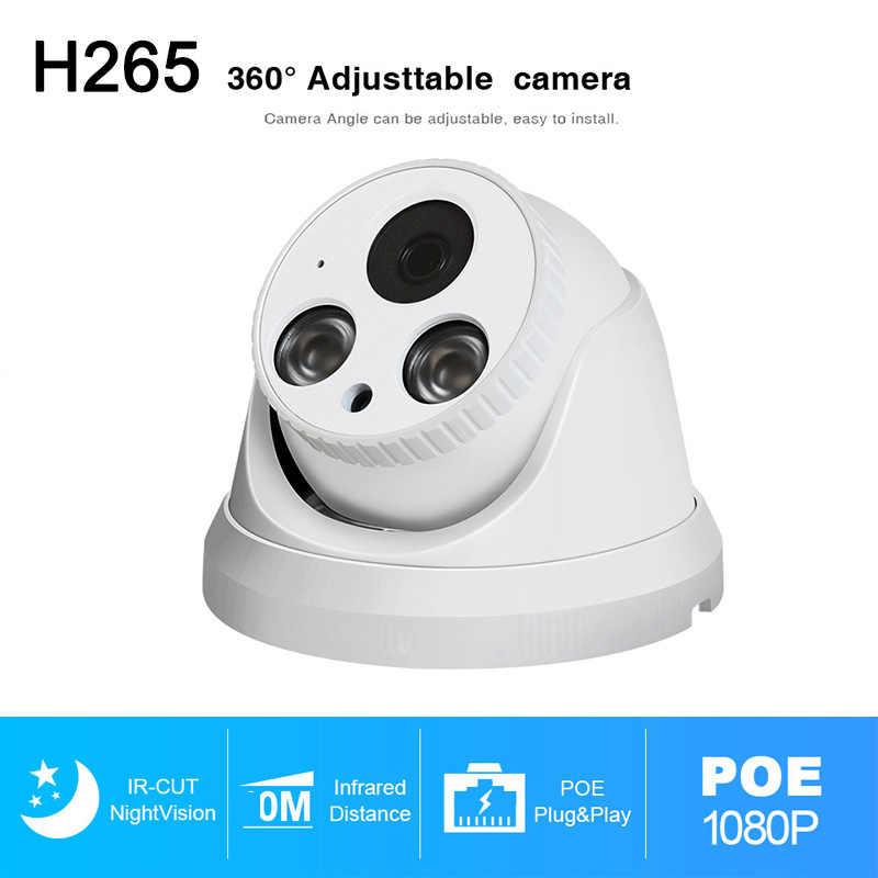 H.265 3MP IP POE كاميرا بشكل قبة داخلي الأشعة تحت الحمراء ليلة الإصدار المدمج في هيئة التصنيع العسكري الصوت والفيديو أمن الوطن مراقبة P2P كاميرات الدوائر التلفزيونية المغلقة